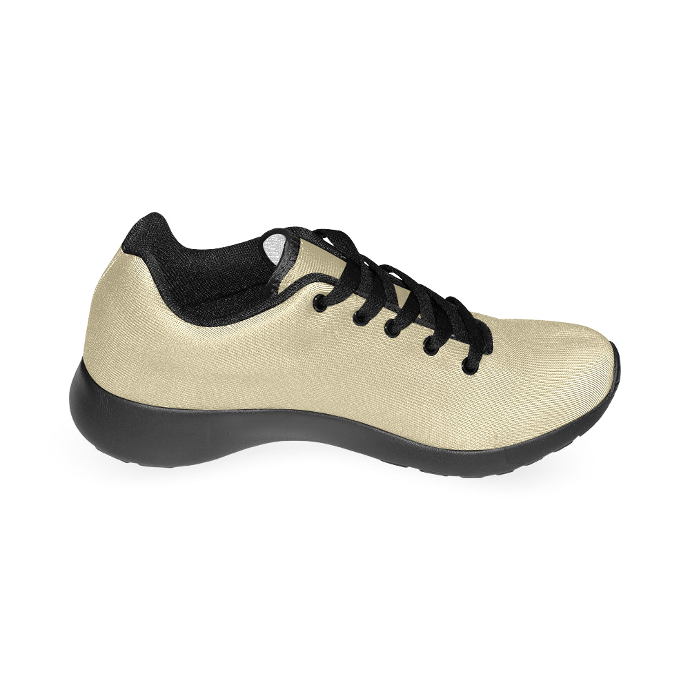 Gold Canvas Black Fashion Women's Running Sport Shoes