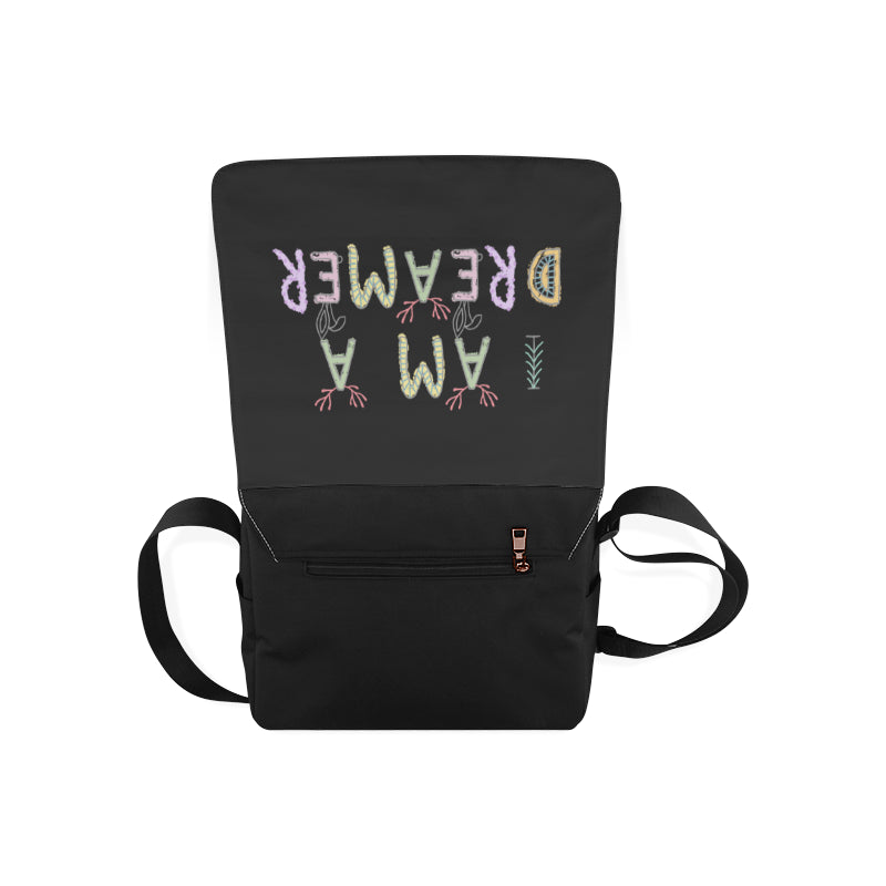 I Am A Dreamer Safari Black Messenger Bag - I Am A Dreamer