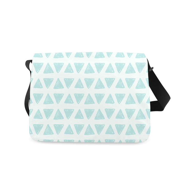 Green Triangle Fashion Messenger Bag - I Am A Dreamer