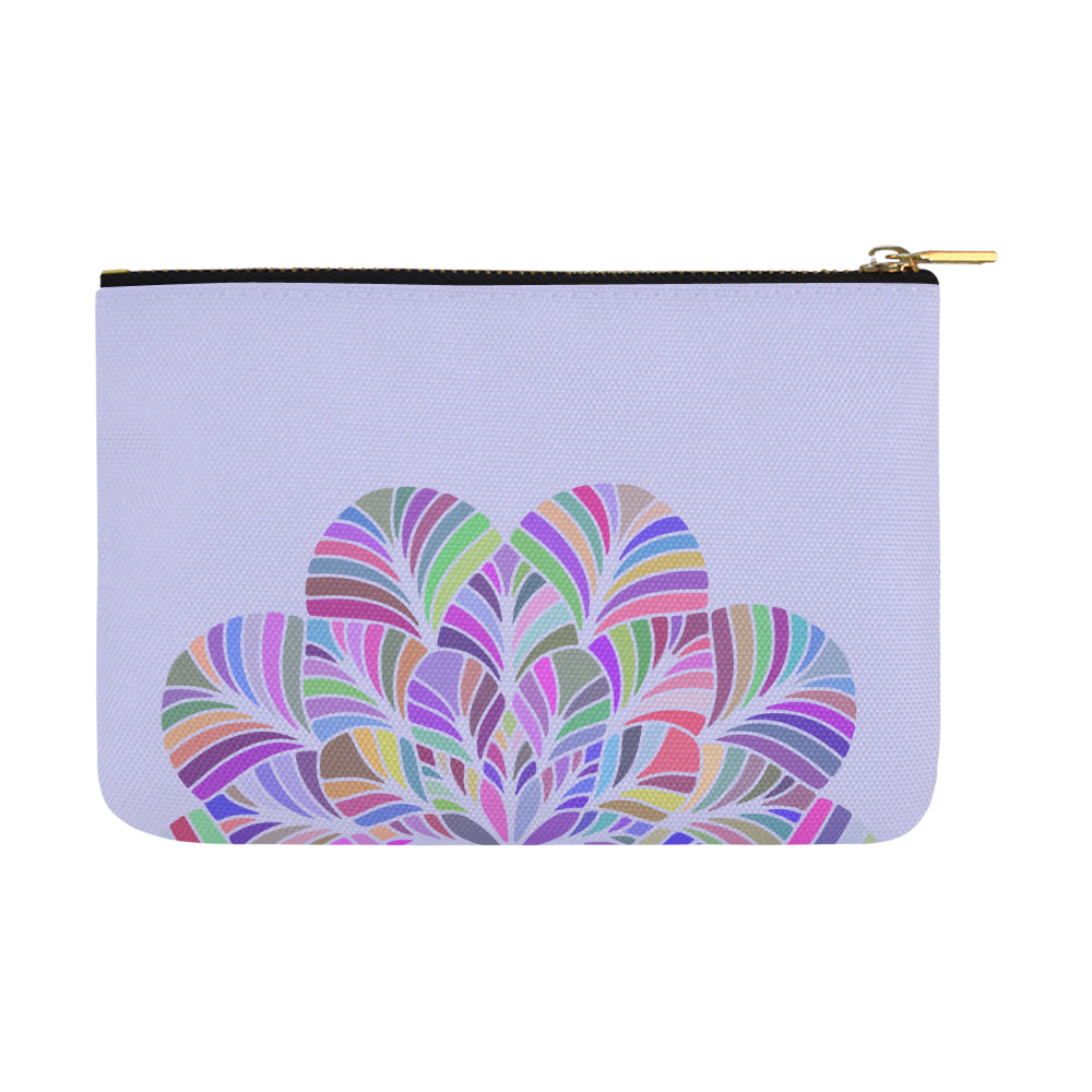 Dreamer Colors Mandala Purple Canvas Carry-All Pouch 12.5''x 8.5'' - I Am A Dreamer