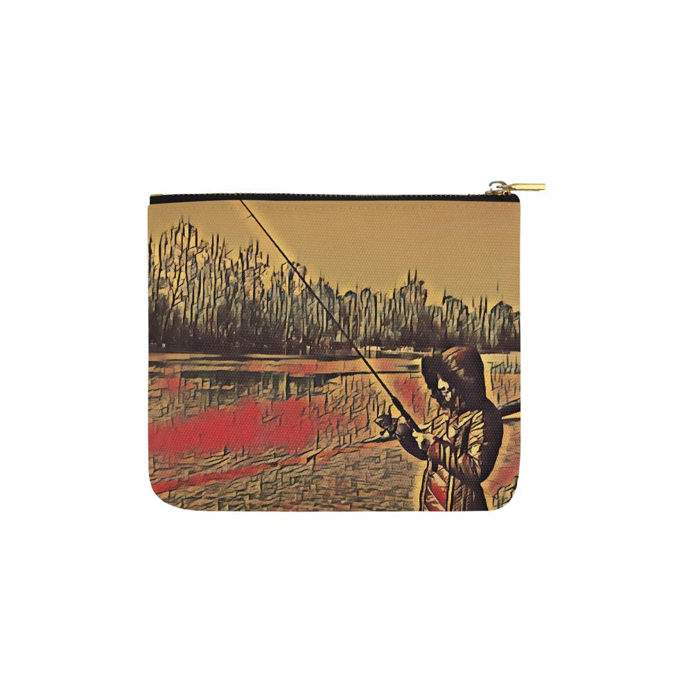 Levi Thang Fishing Design 11 Carry-All Pouch 6''x5'' - I Am A Dreamer