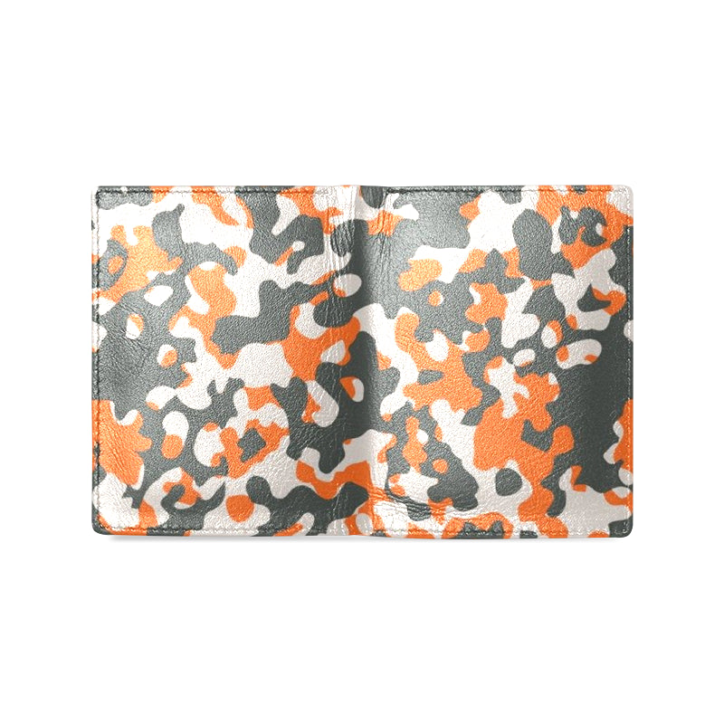 Camo Orange Dreamer Men's Leather Wallet - I Am A Dreamer