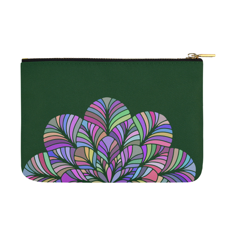 Dreamer Colors Mandala Dark Green Canvas Carry-All Pouch 12.5''x 8.5'' - I Am A Dreamer