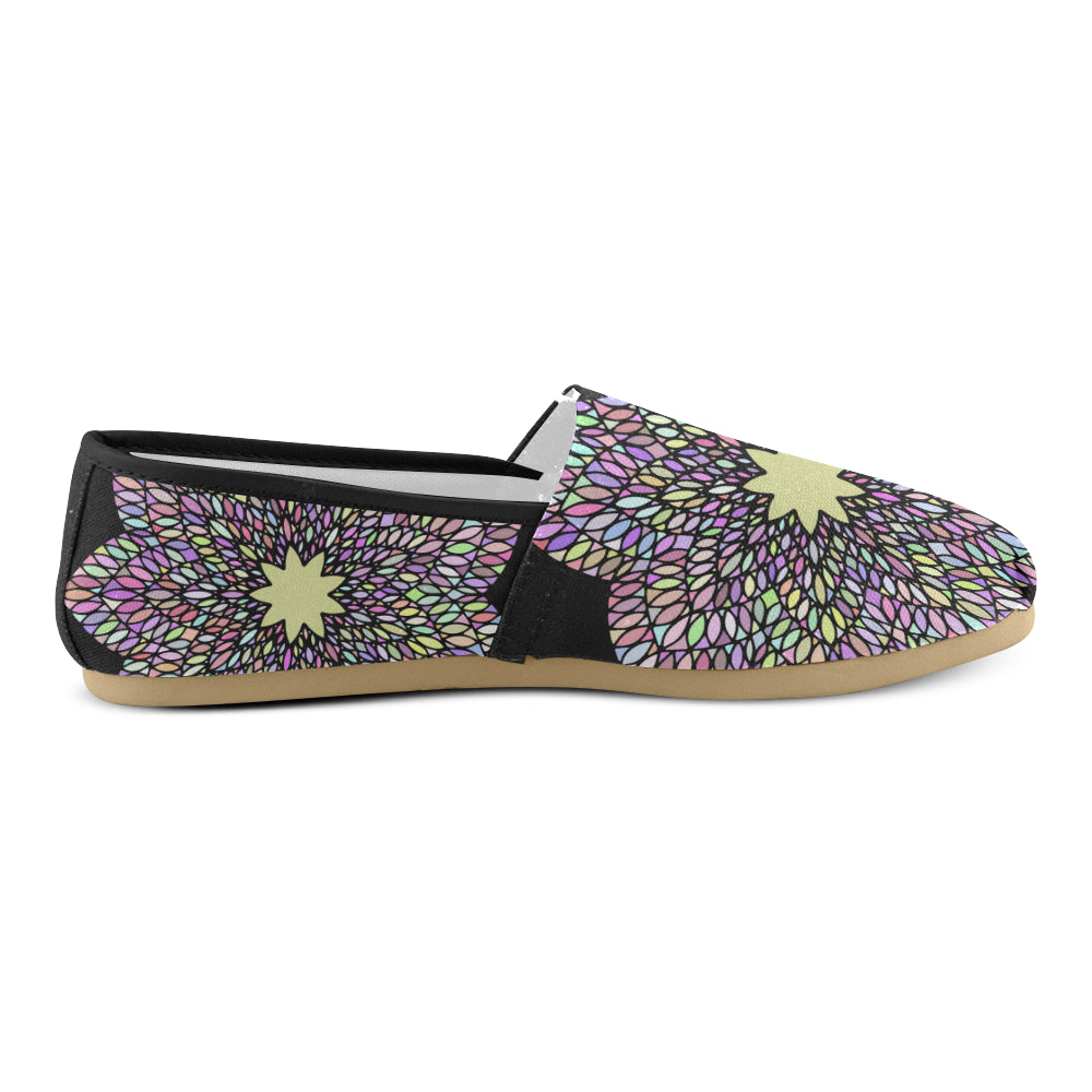 Purple Gold Floral Mandala Women's Casual Shoes - I Am A Dreamer