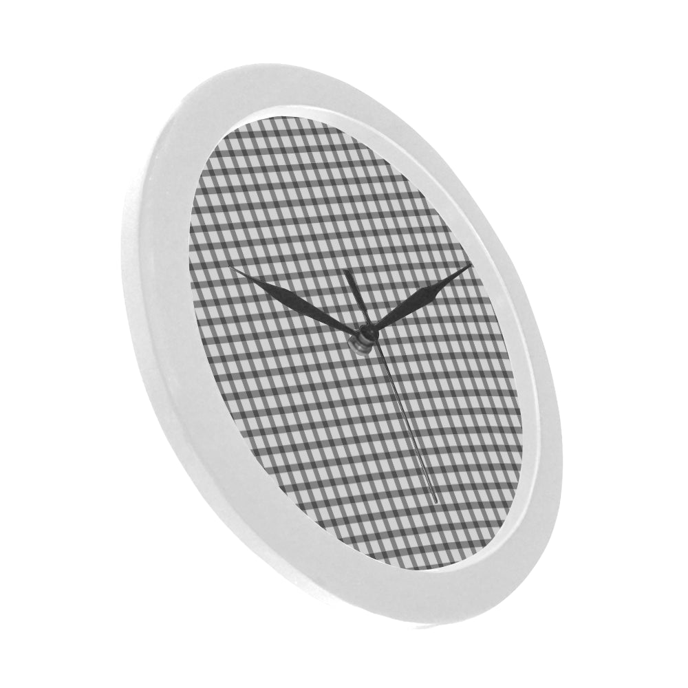 Tribal White Circular Plastic Wall clock - I Am A Dreamer