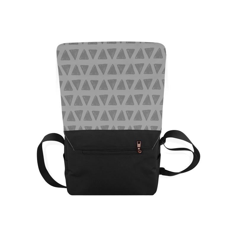 Gray Triangle Fashion Messenger Bag - I Am A Dreamer