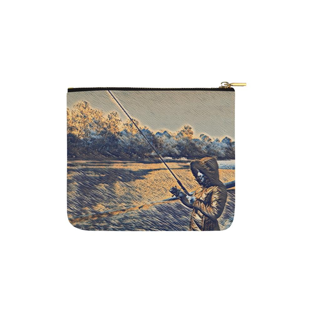Levi Thang Fishing Design 18 Carry-All Pouch 6''x5'' - I Am A Dreamer