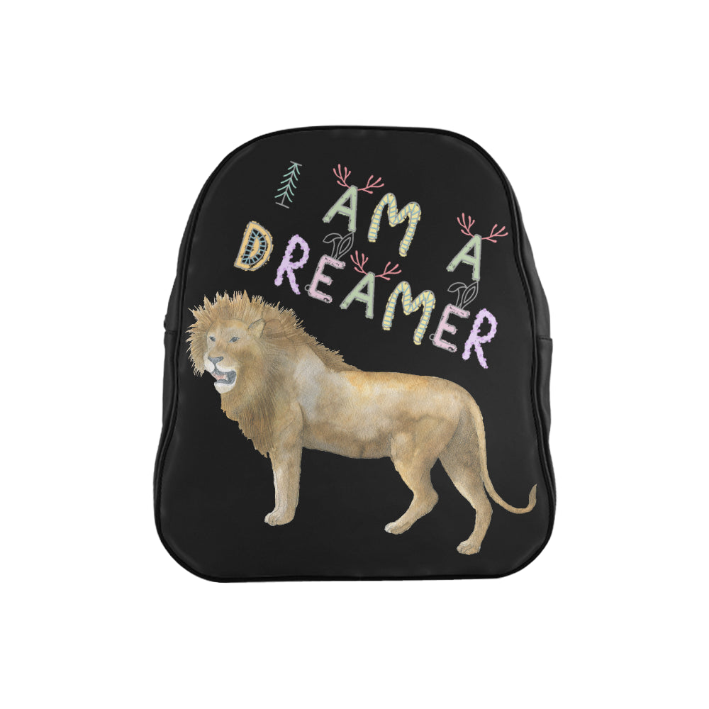 I Am A Dreamer Lion Children School Backpack - I Am A Dreamer