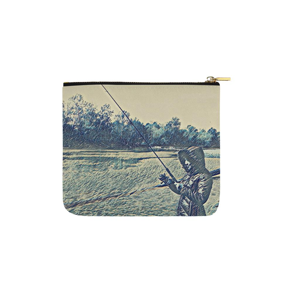 Levi Thang Fishing Design 5 Carry-All Pouch 6''x5'' - I Am A Dreamer