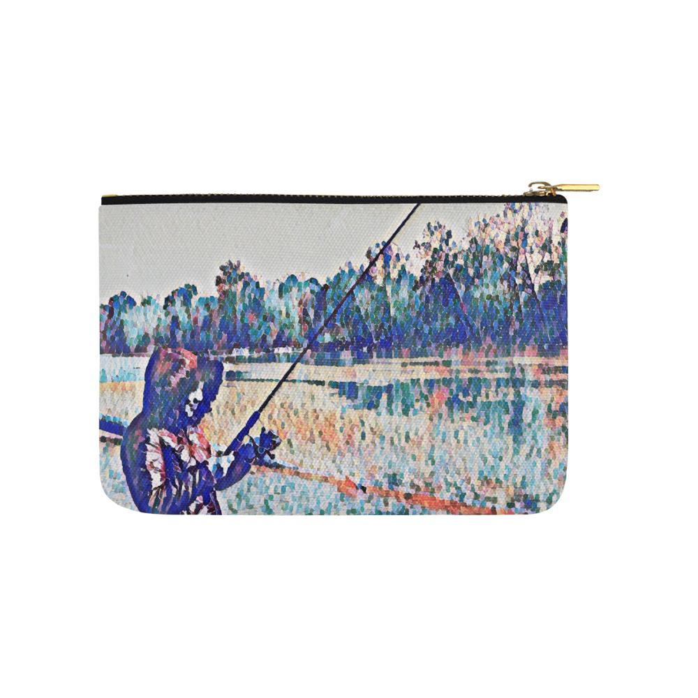 Levi Thang Fishing Design 1 Carry-All Pouch 9.5''x6'' - I Am A Dreamer