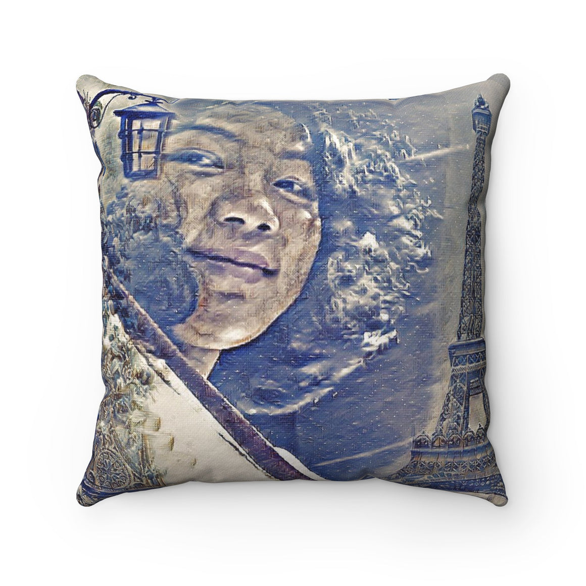 Levi Thang Vintage Face Design O Spun Polyester Square Pillow Case
