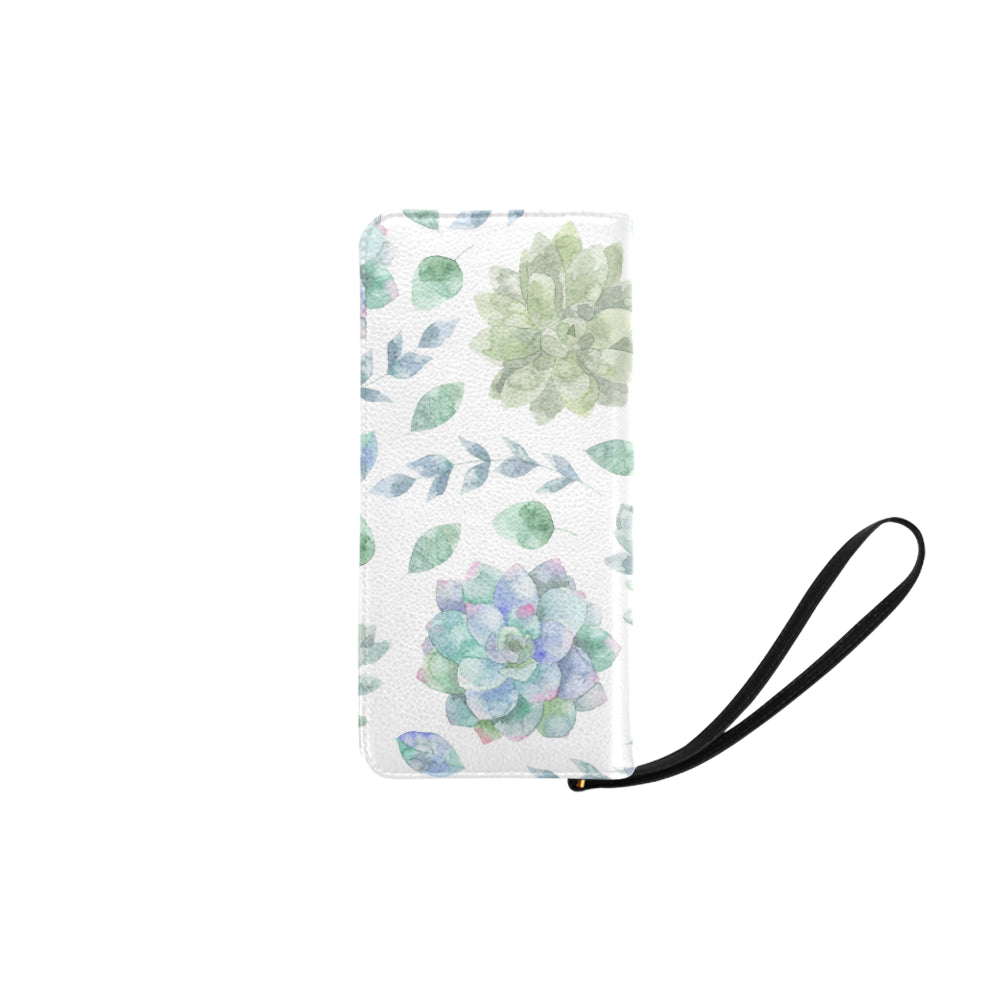 Elegant Green Floral Women's Clutch Purse - I Am A Dreamer