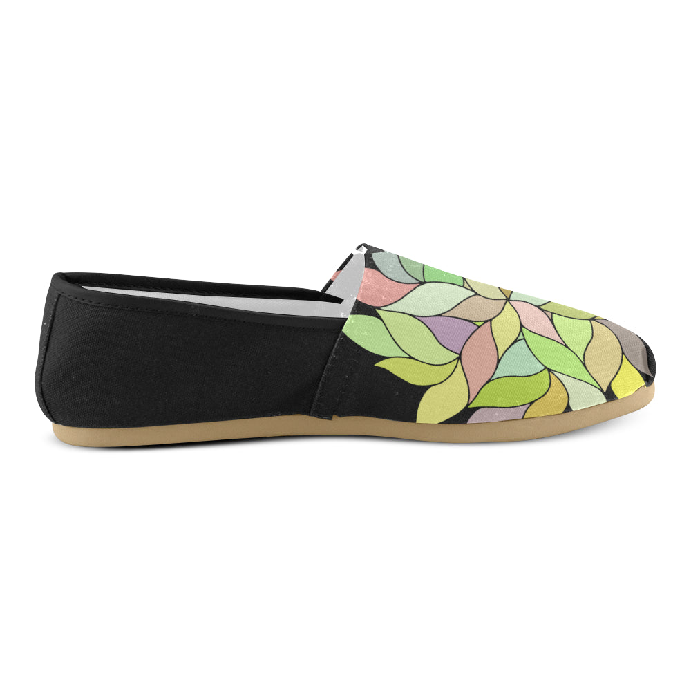 Colors Floral Back Green Women's Casual Shoes - I Am A Dreamer