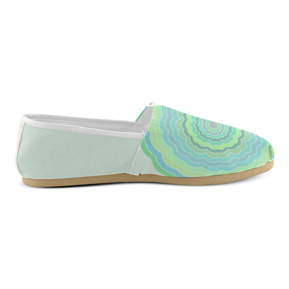 Green Floral Light Green Women's Casual Shoes - I Am A Dreamer