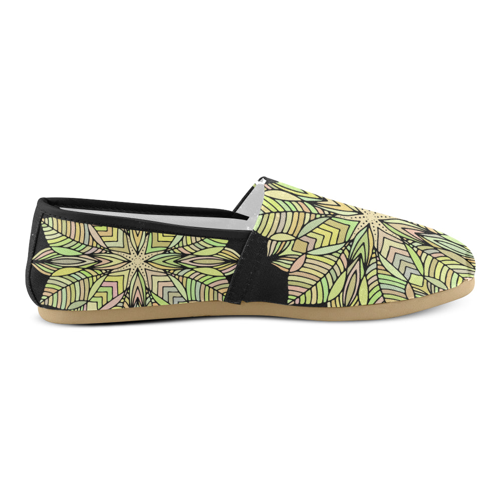 Yellow Floral Mandala Women's Casual Shoes - I Am A Dreamer