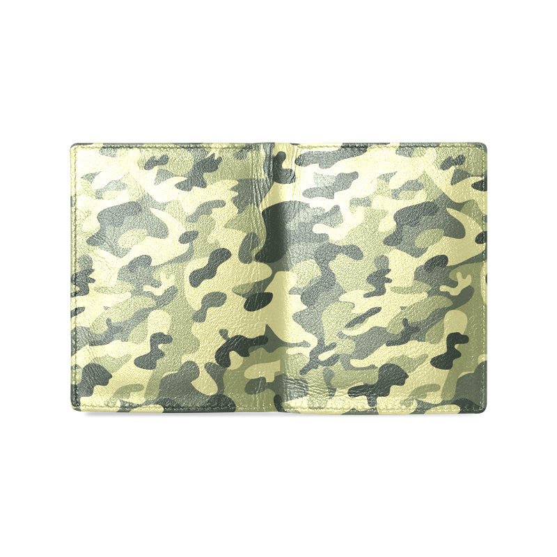 Camouflage Green Dreamer Men's Leather Wallet - I Am A Dreamer