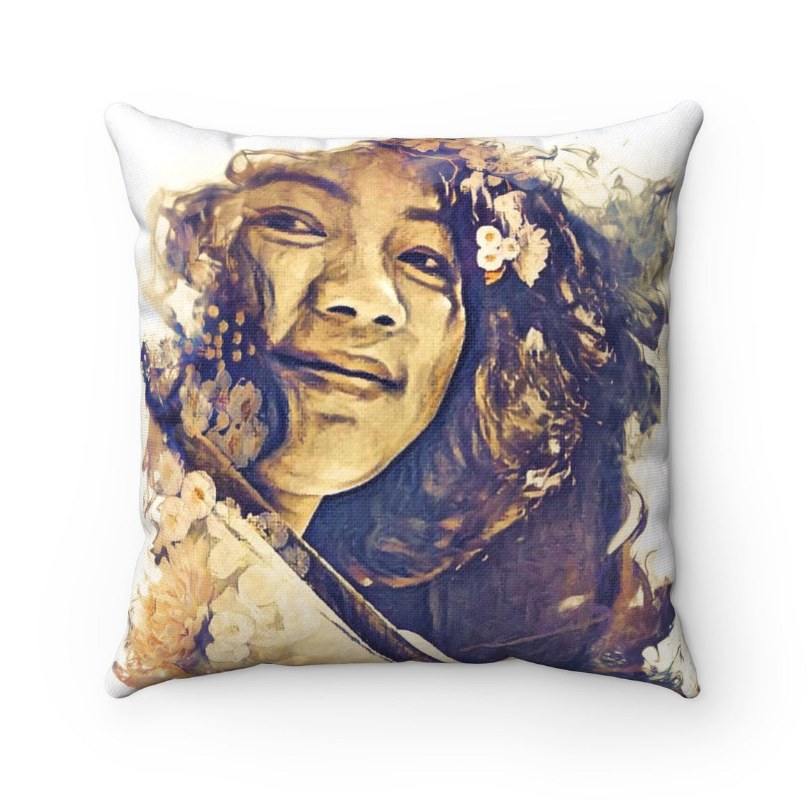 Levi Thang Vintage Face Design U Spun Polyester Square Pillow Case