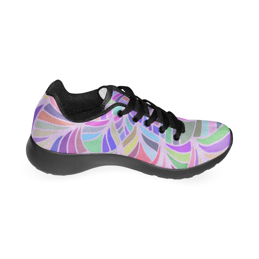 Mandala Purple Black Women's Running Shoes - I Am A Dreamer