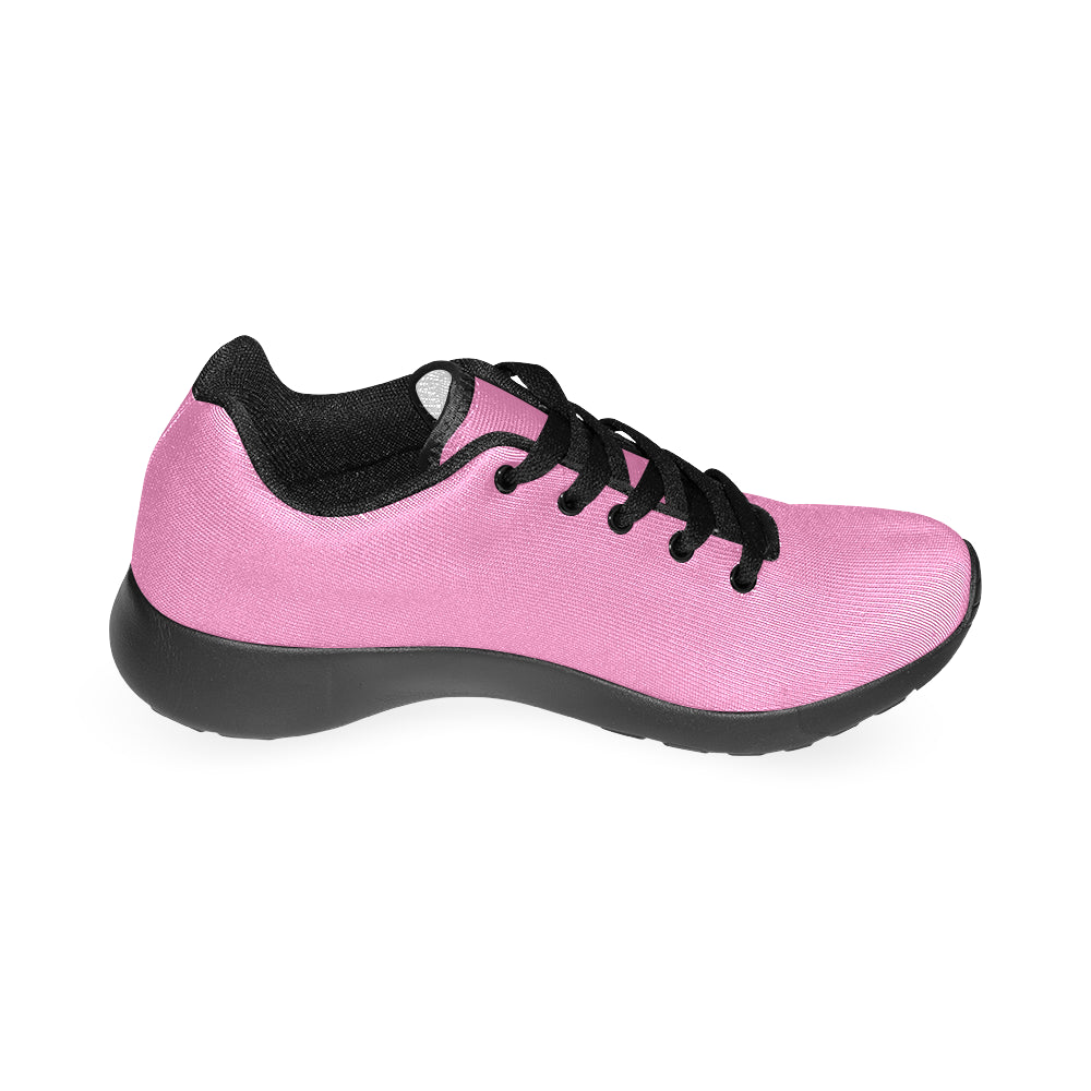Pink Canvas Black Fashion  Women's Running Sport Shoes - I Am A Dreamer