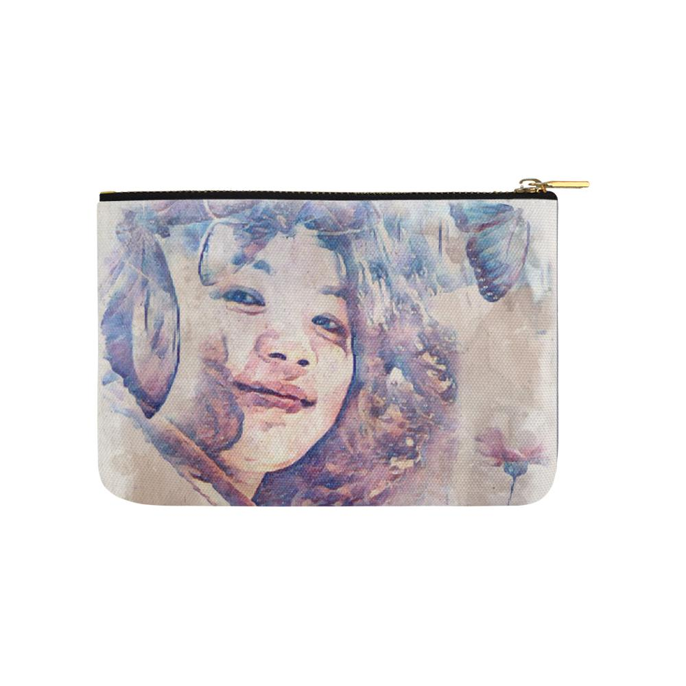 Levi Thang Vintage Face Design V Carry-All Pouch 9.5''x6''