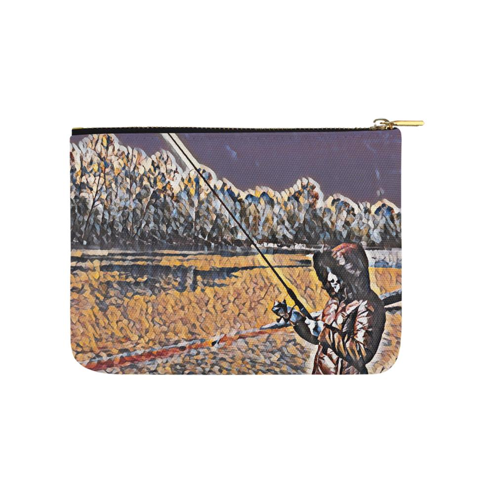 Levi Thang Fishing Design 3 Carry-All Pouch 8''x 6'' - I Am A Dreamer
