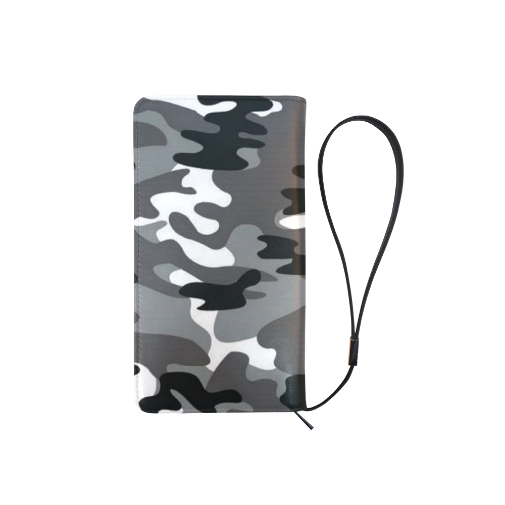 Camo Black White Dreamer Men's Clutch Purse