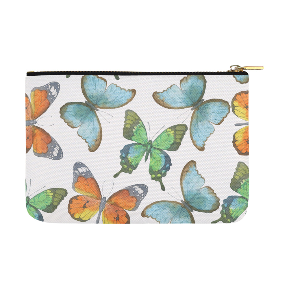 Butterfly White Carry-All Pouch 12.5''x8.5'' - I Am A Dreamer