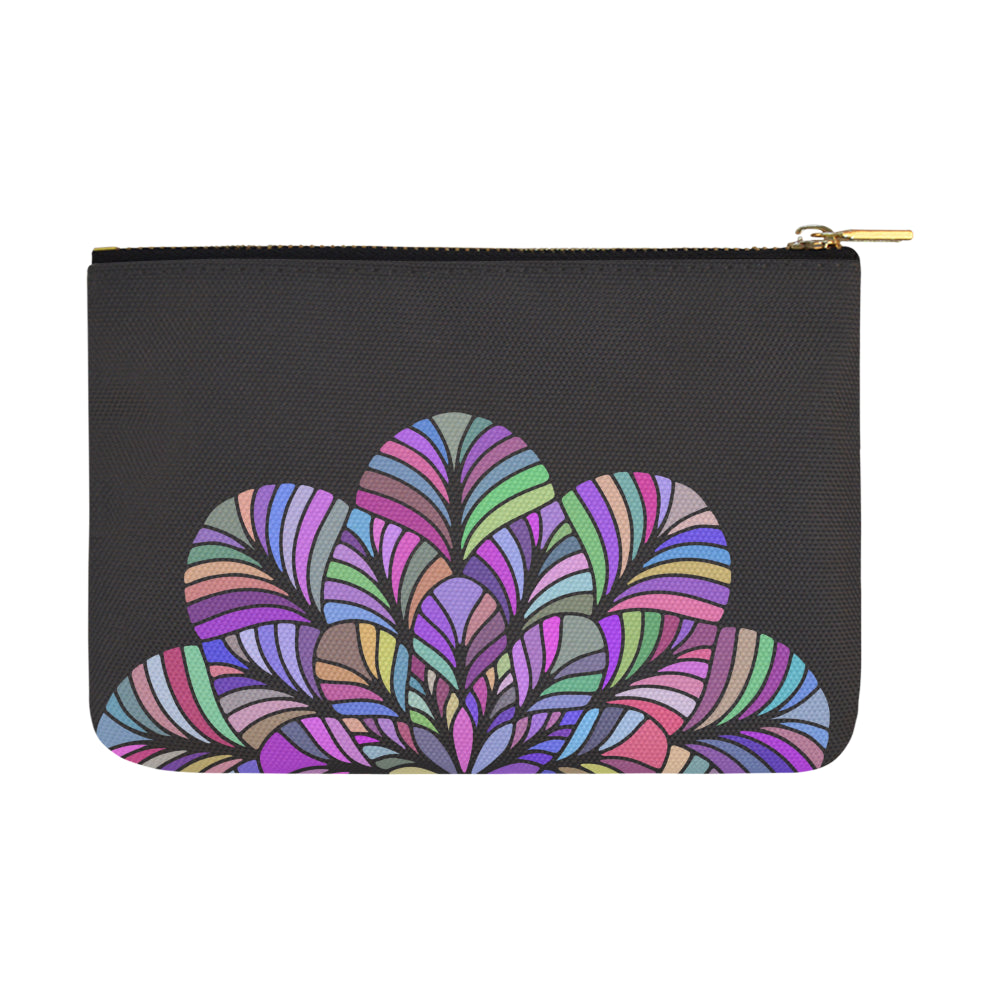 Dreamer Colors Mandala Black Canvas Carry-All Pouch 12.5''x 8.5'' - I Am A Dreamer