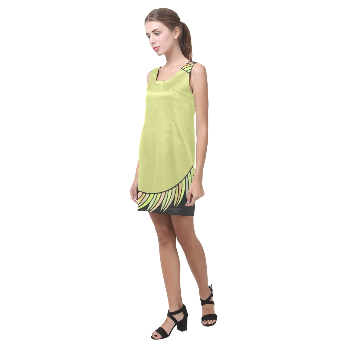 Summer Fashion Green Sapte Designer Sleeveless Dress - I Am A Dreamer