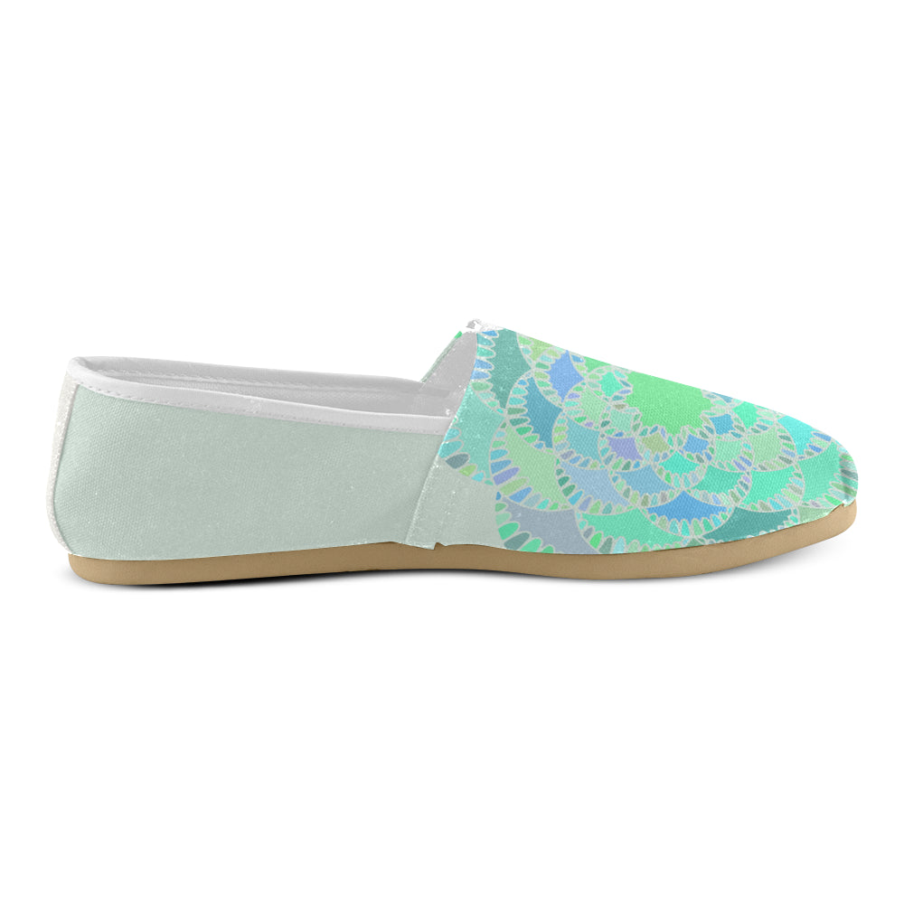 Green Purple Floral Light Green Women's Casual Shoes - I Am A Dreamer