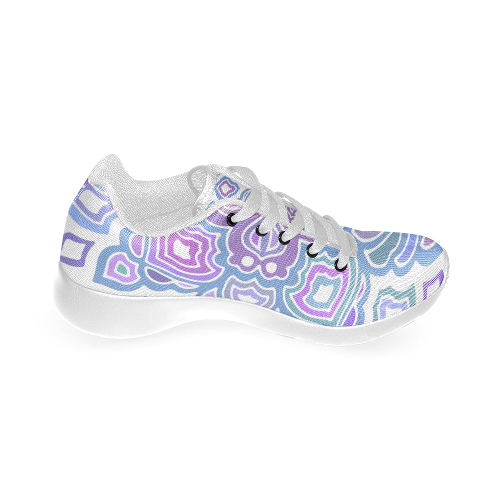 Mandala Cross Purple White Women's Running Shoes - I Am A Dreamer