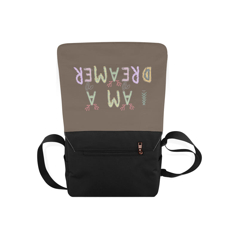 I Am A Dreamer Safari Brown Messenger Bag - I Am A Dreamer