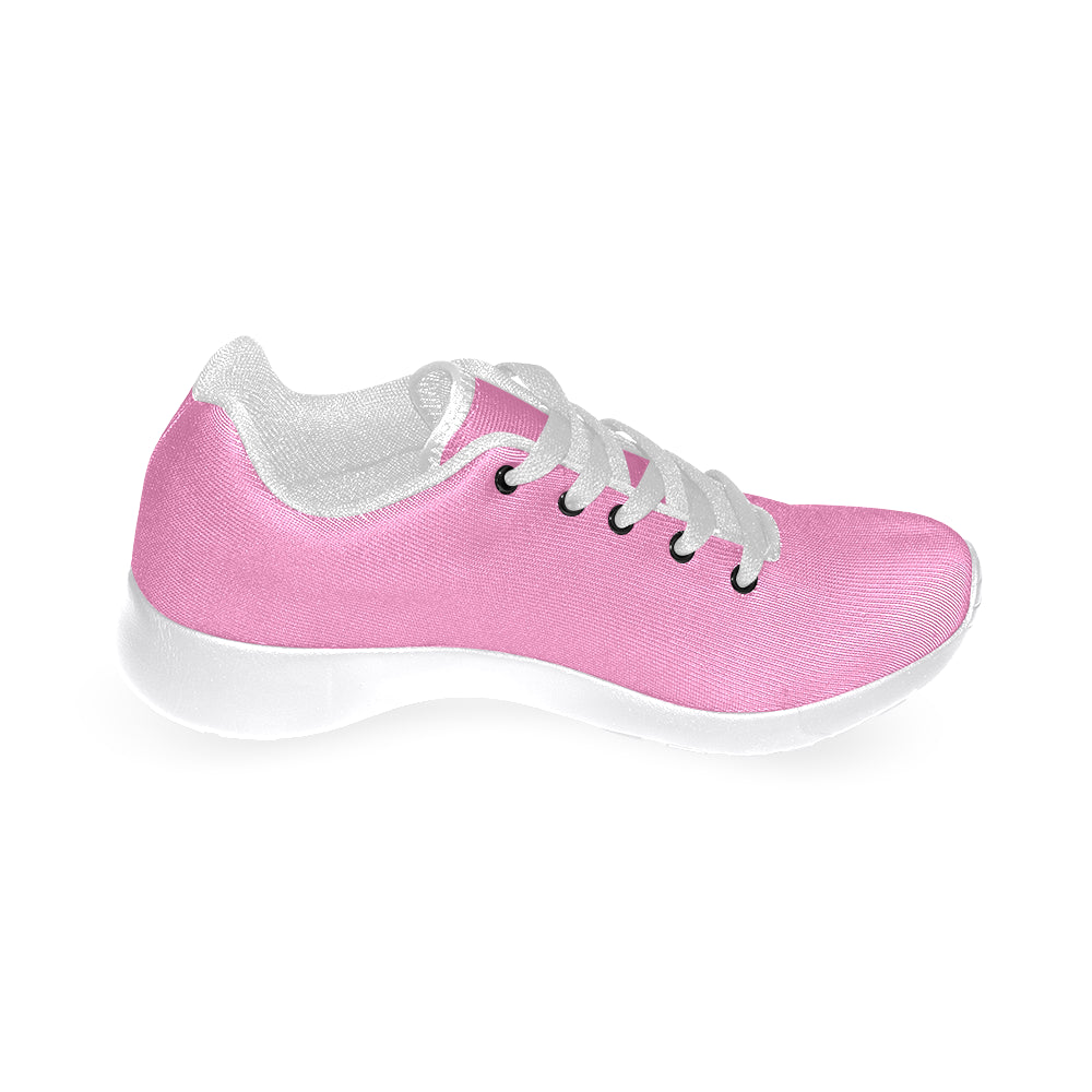 Pink Canvas White Fashion Women's Running Sport Shoes - I Am A Dreamer