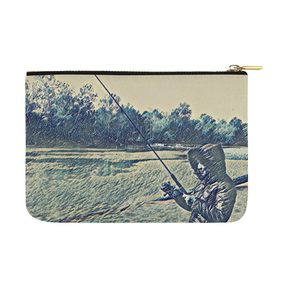 Levi Thang Fishing Design 5 Carry-All Pouch 12.5''x8.5'' - I Am A Dreamer