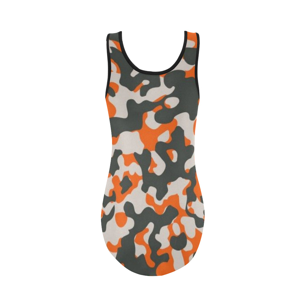 Camo Orange Dreamer Vest One Piece Swimsuit - I Am A Dreamer
