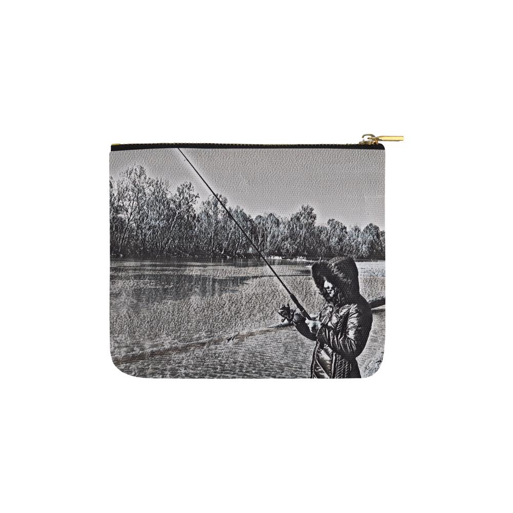 Levi Thang Fishing Design 17 Carry-All Pouch 6''x5'' - I Am A Dreamer
