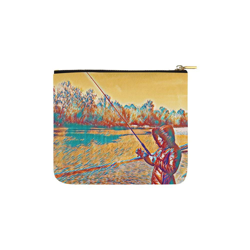 Levi Thang Fishing Design 4 Carry-All Pouch 6''x5''