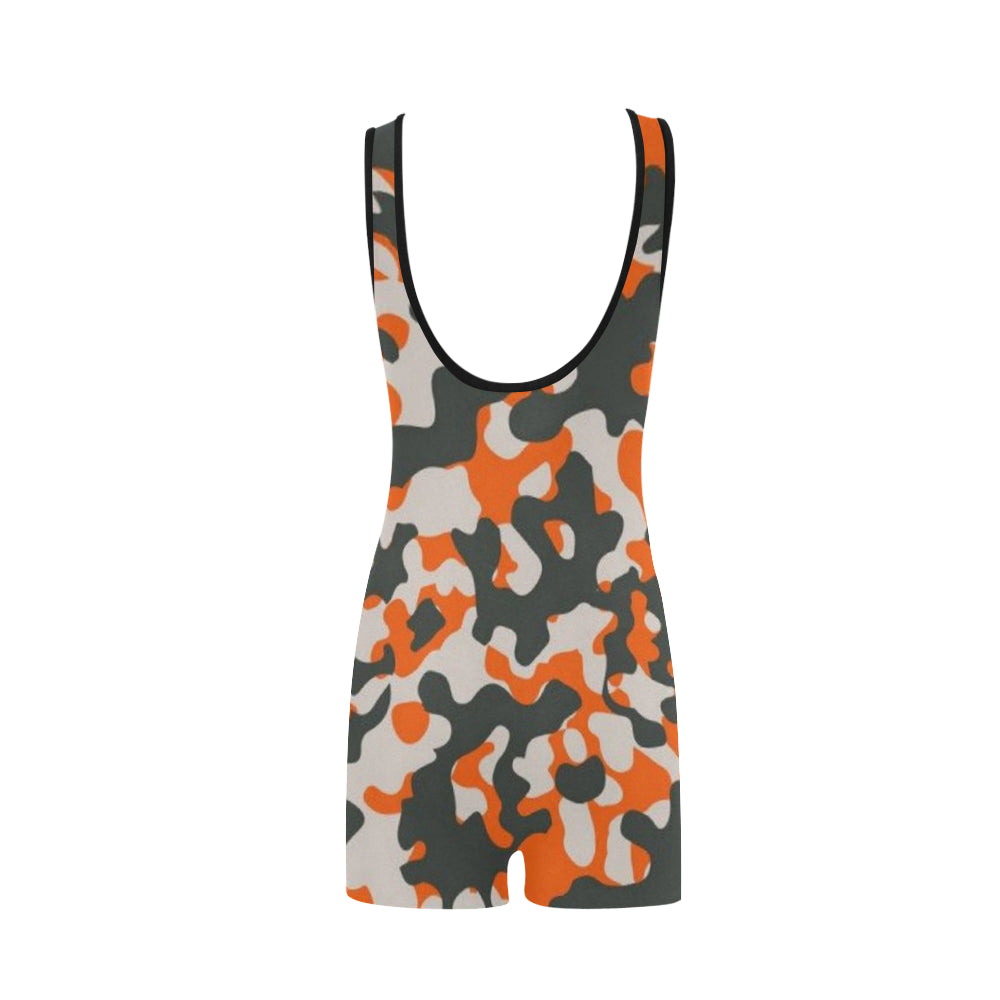 Camo Orange Dreamer Classic One Piece Swimwear - I Am A Dreamer