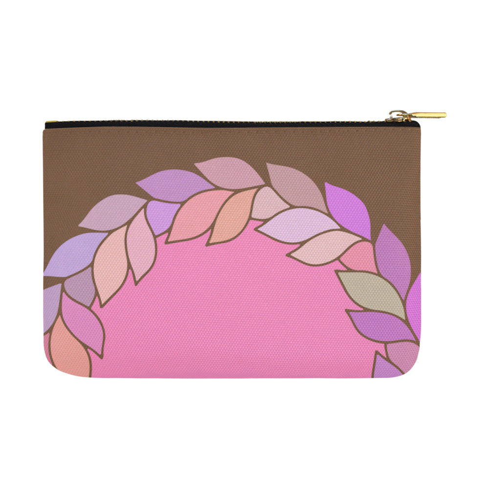 Floral Leaves Colors Brown Carry-All Pouch - I Am A Dreamer