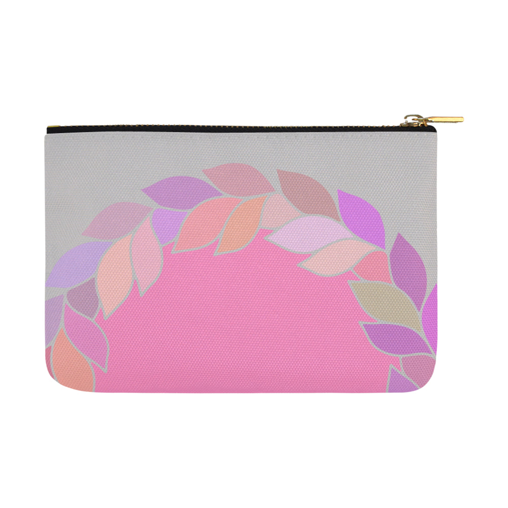 Floral Leaves Colors 8 Carry-All Pouch 12.5''X 8.5'' - I Am A Dreamer