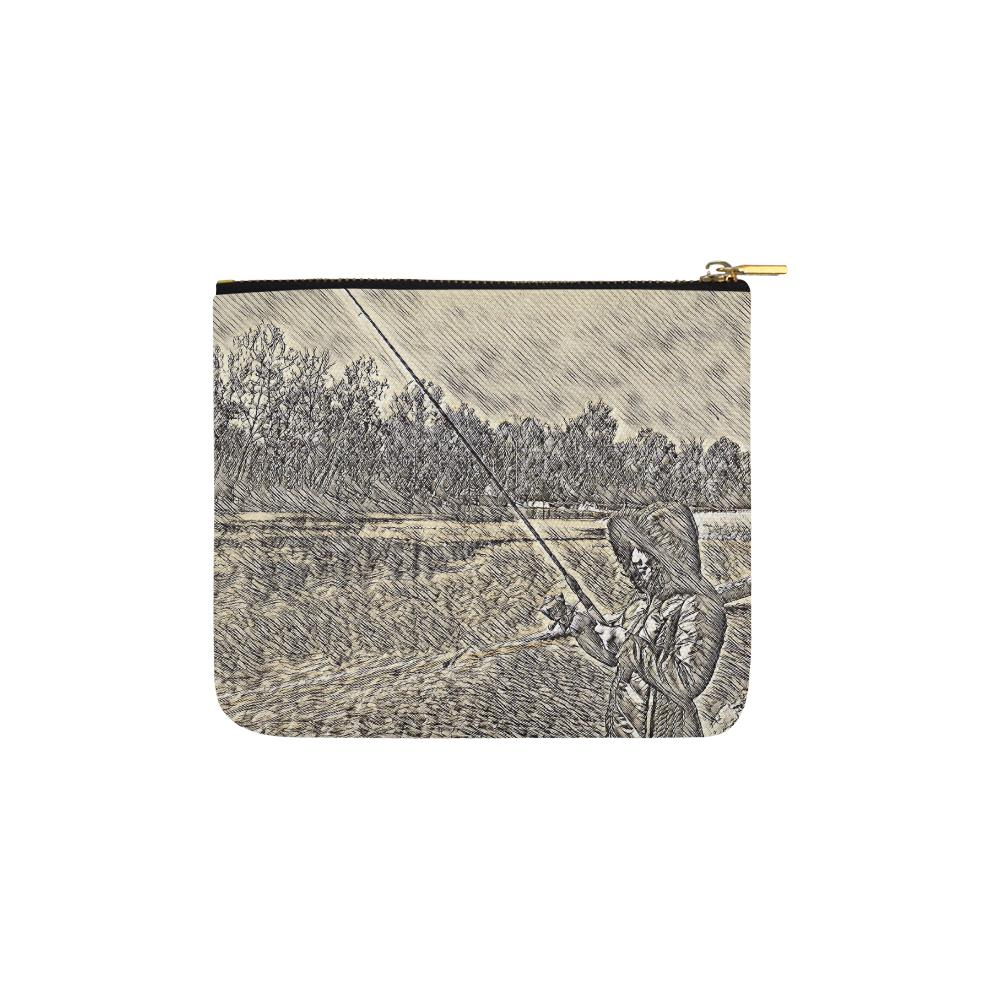 Levi Thang Fishing Design 19 Carry-All Pouch 6''x5'' - I Am A Dreamer
