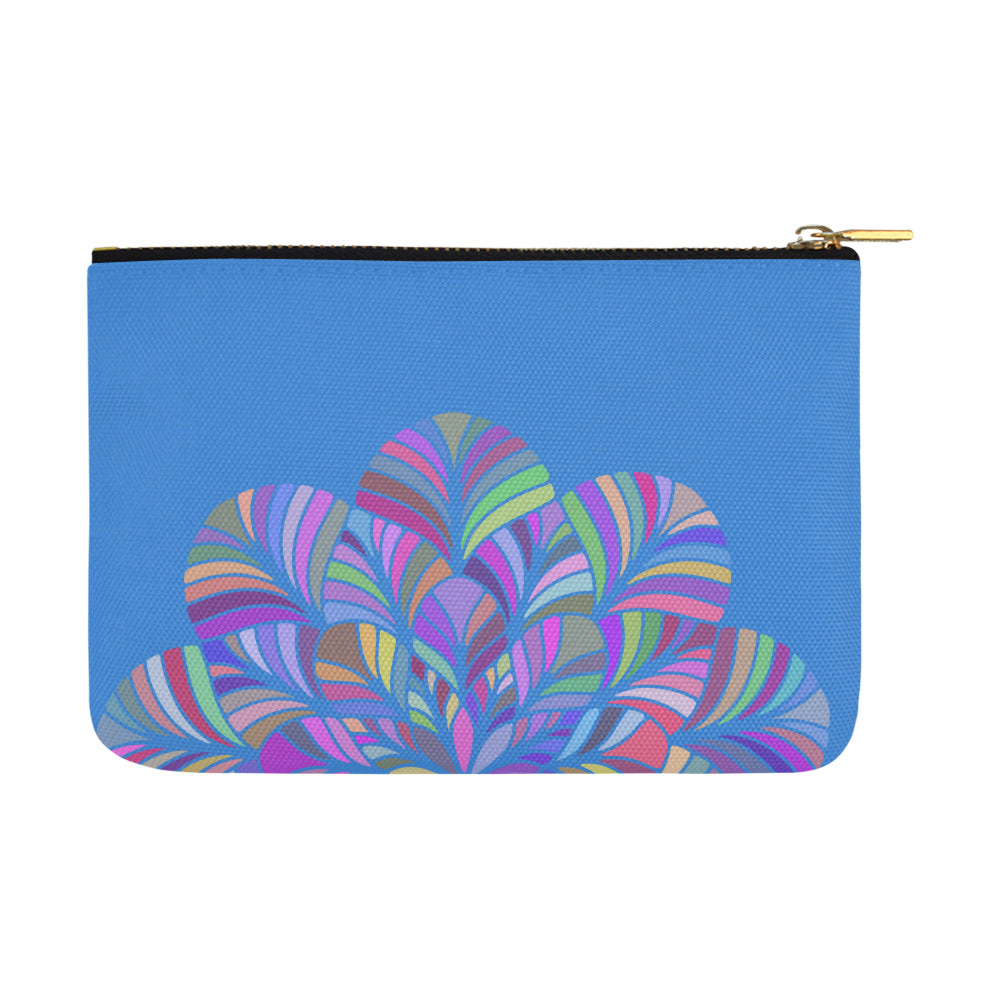 Dreamer Colors Mandala Blue Canvas Carry-All Pouch 12.5''x 8.5'' - I Am A Dreamer