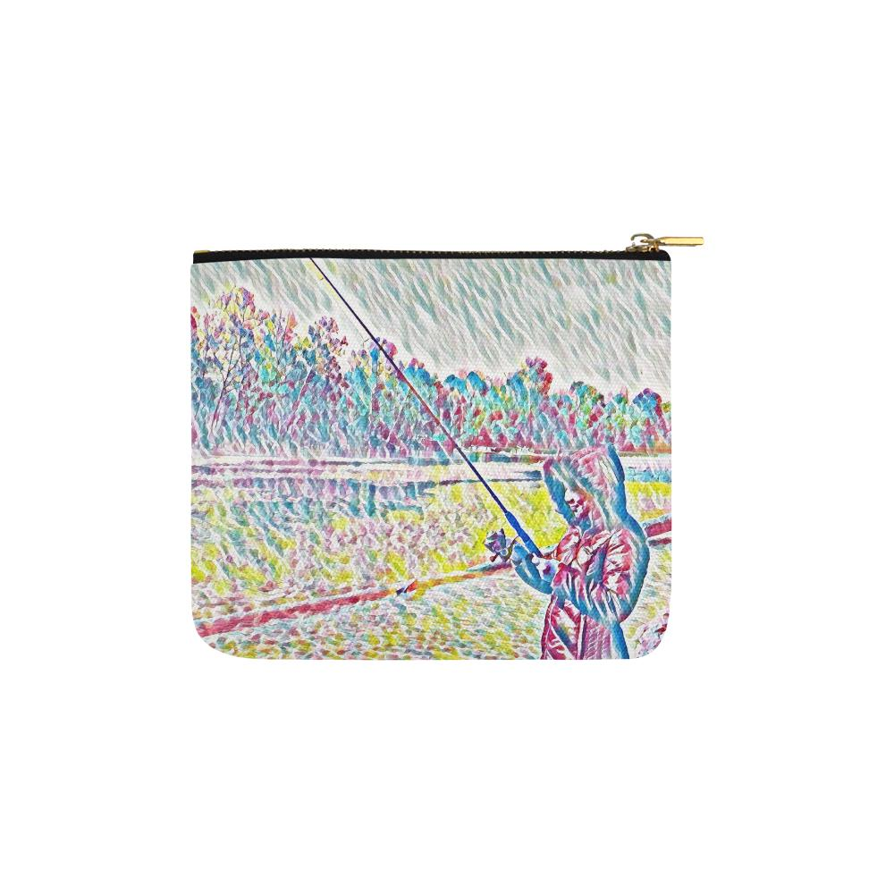 Levi Thang Fishing Design 8 Carry-All Pouch 6''x5'' - I Am A Dreamer