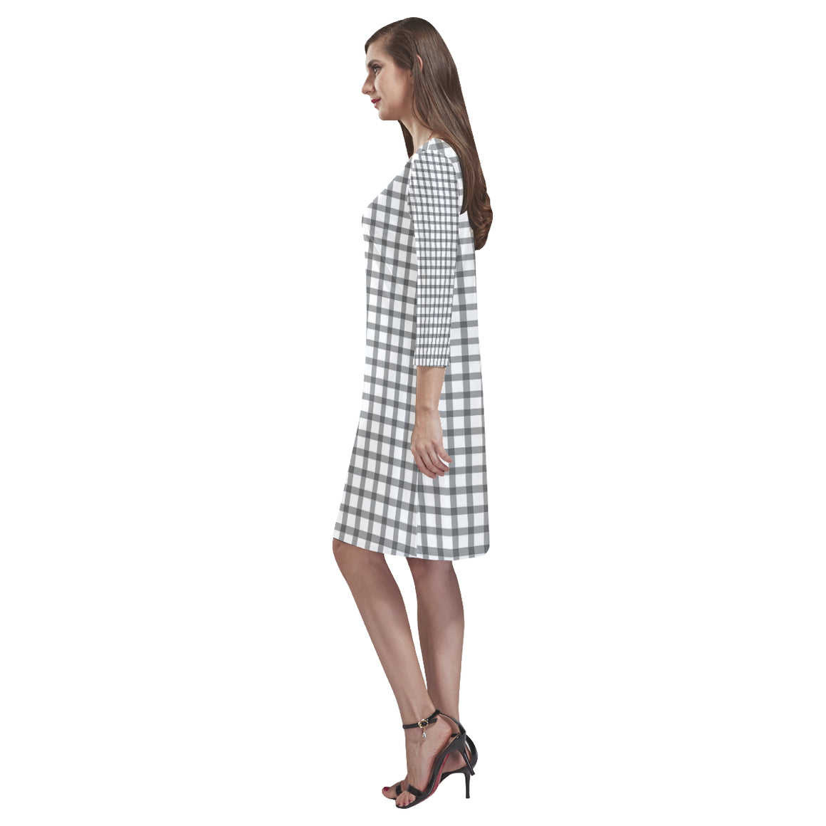 Mizo Black White Stripes Rhea Loose Round Neck Dress - I Am A Dreamer