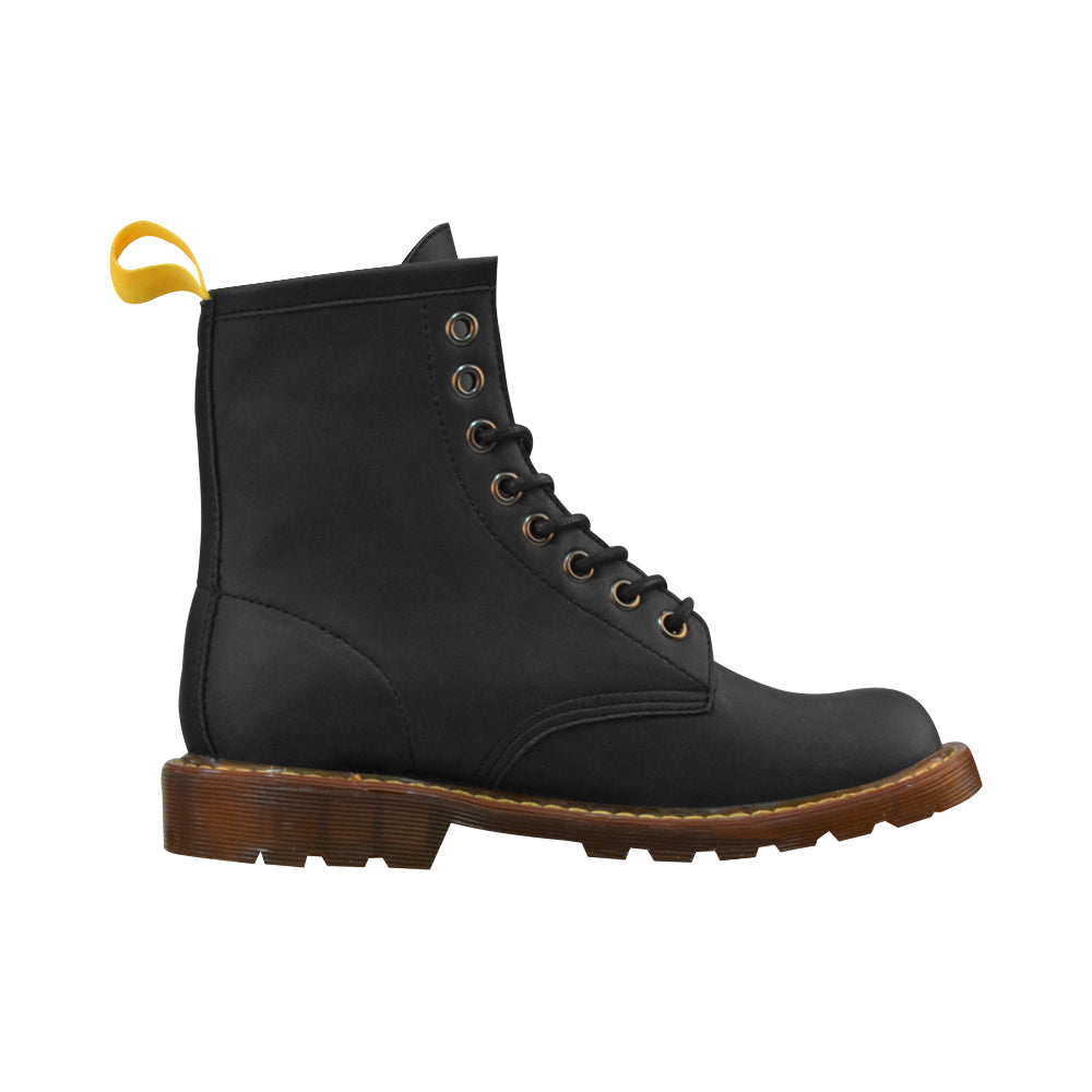 Black Leather Martin Boots For Women - I Am A Dreamer