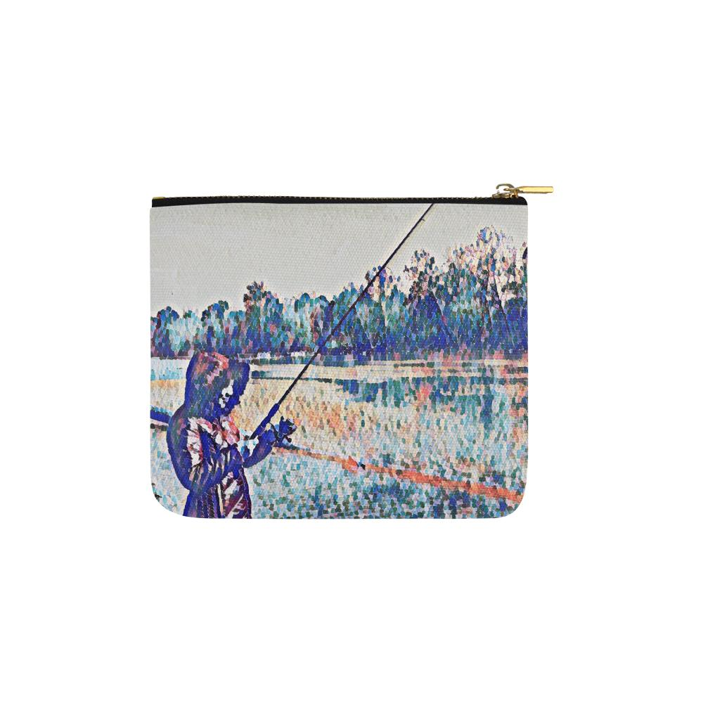 Levi Thang Fishing Design 1 Carry-All Pouch 6''x5'' - I Am A Dreamer