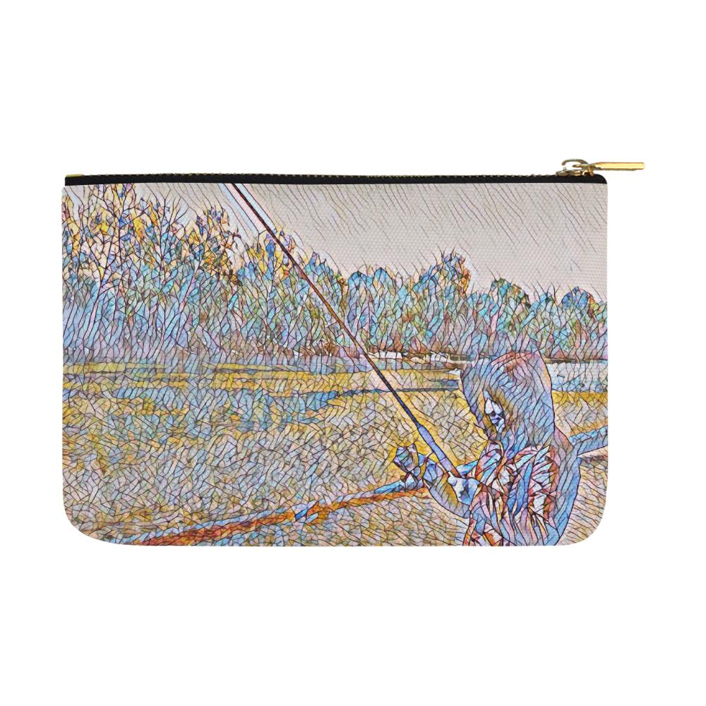 Levi Thang Fishing Design 2 Carry-All Pouch 12.5''x8.5'' - I Am A Dreamer