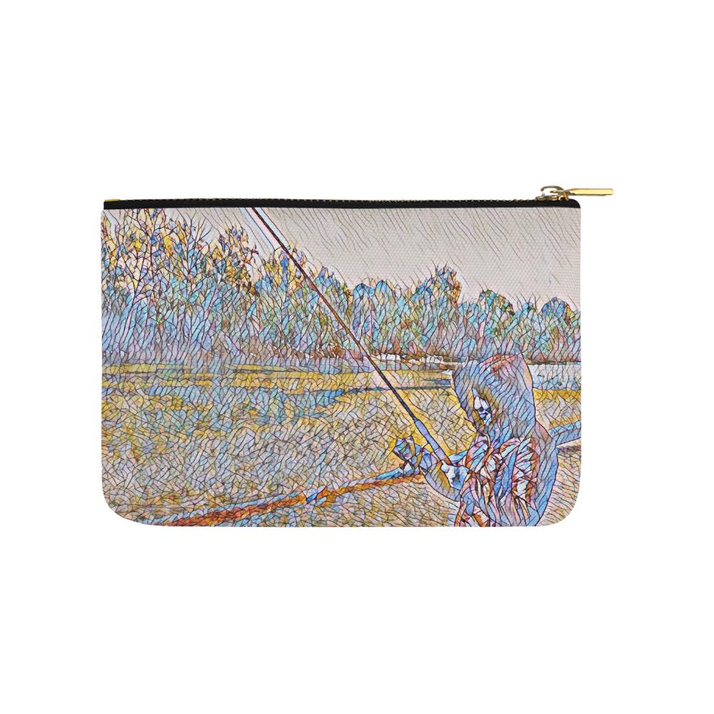 Levi Thang Fishing Design 2 Carry-All Pouch 9.5''x6'' - I Am A Dreamer
