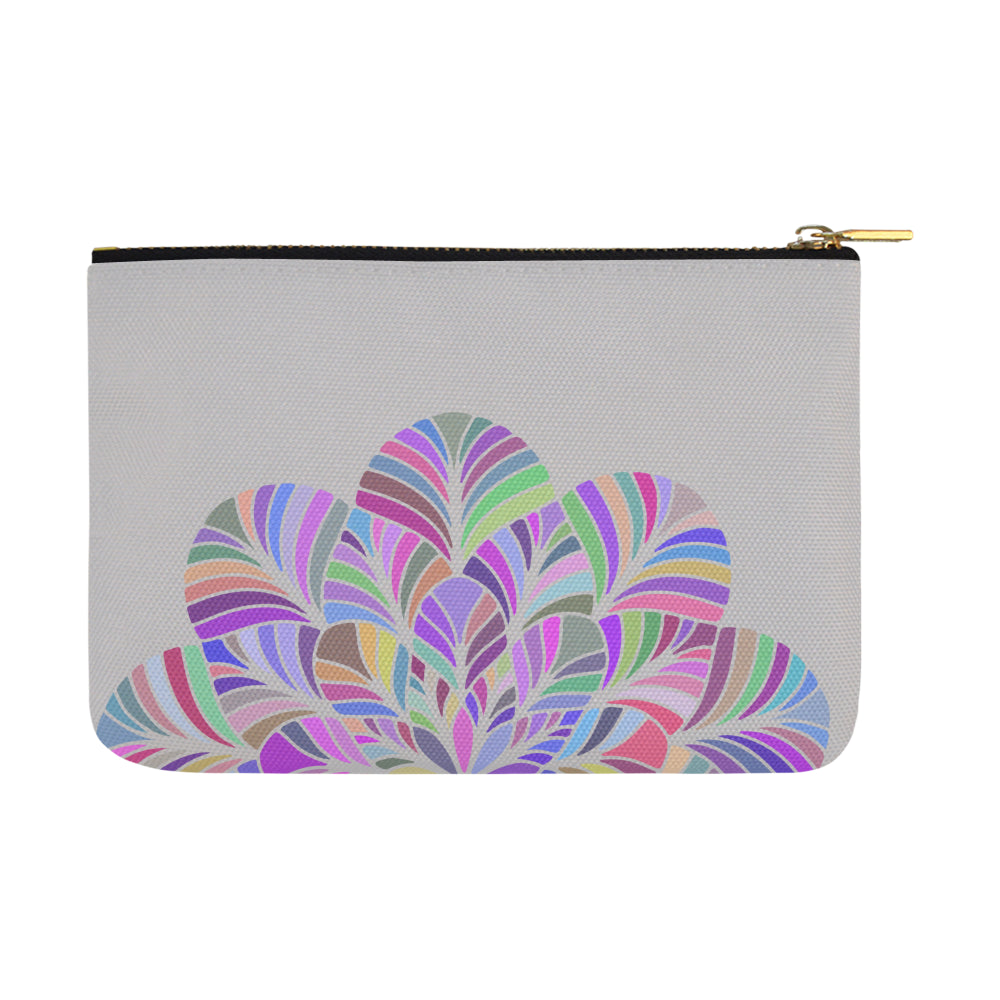 Dreamer Colors Mandala Gray Canvas Carry-All Pouch 12.5''x 8.5'' - I Am A Dreamer