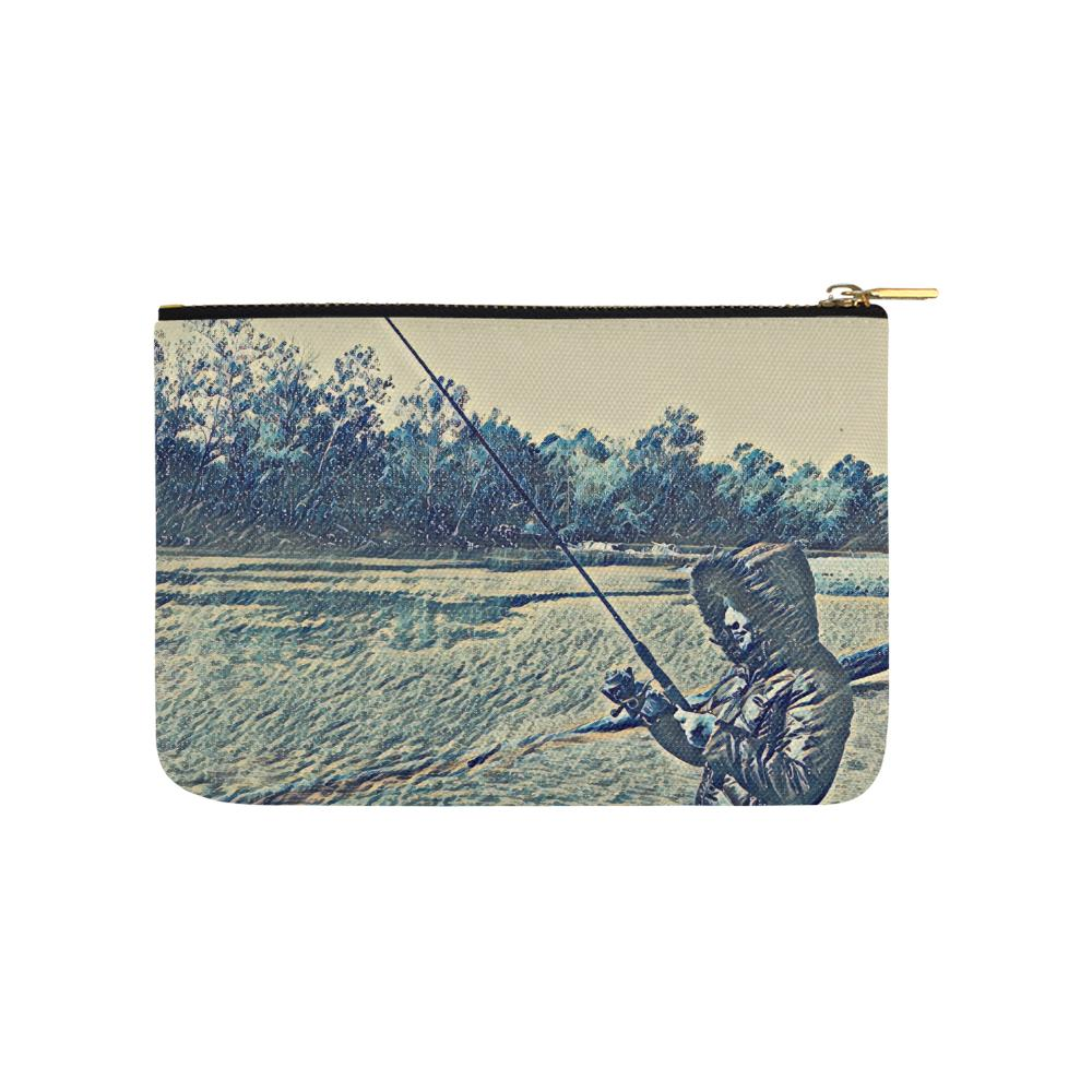Levi Thang Fishing Design 5 Carry-All Pouch 9.5''x6'' - I Am A Dreamer